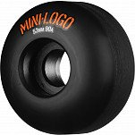 Mini Logo Wheel Hybrid C-cut 53mm 90A Black 4pk