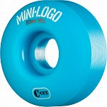 Mini Logo Skateboard Wheel C-cut 52mm 101A Blue 4pk