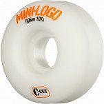 Mini Logo Skateboard Wheel C-cut 50mm 101A White 4pk