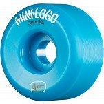 Mini Logo Skateboard Wheel A-cut 53mm 90A Blue 4pk