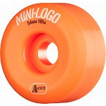 Mini Logo Skateboard Wheel A-cut 54mm 101A Orange 4pk