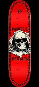 Powell Peralta Ripper Chainz Skateboard Deck Red - 8 x 31.45