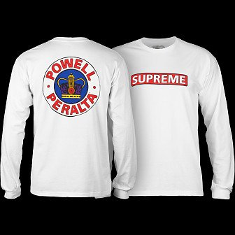 Powell Peralta Supreme L/S Shirt White