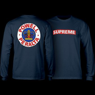 Powell Peralta Supreme L/S Shirt Navy
